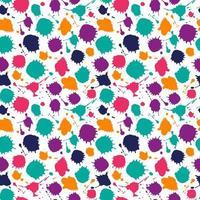 padrão sem emenda de cor brilhante de manchas desenhadas à mão