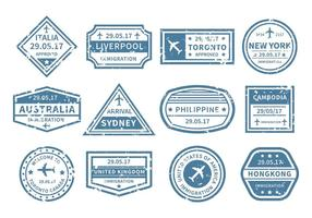 Viagem grátis ao redor do vetor do selo mundial