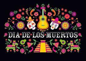 banner mexicano do dia de los muertos