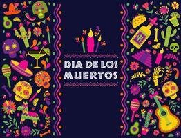 dia de los muertos fundo mexicano