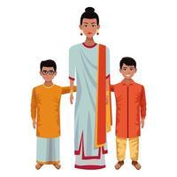 personagens de desenhos animados de família indiana