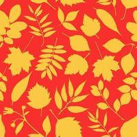 adorável padrão de folhas de outono vetor