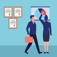 personagens de desenhos animados avatares de empresários