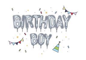 Aniversário grátis do vetor Boy