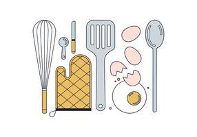 Vetor de ferramentas de cozinhar grátis