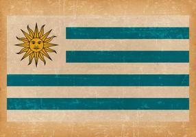 Bandeira do Grunge antigo do Uruguai vetor