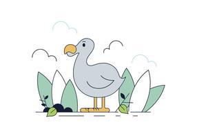 Vetor de pássaro de dodo grátis