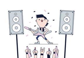 Vetor livre da estrela do rock