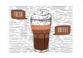 Ilustração de café vetorial desenhada mão livre vetor