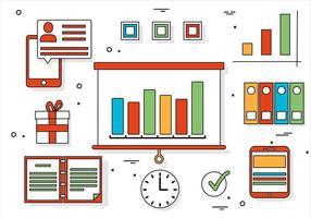 Elementos do Office Office Free Flat Design vetor