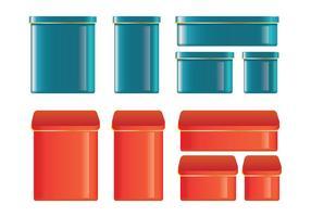 Conjunto de vetores de lata
