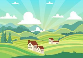 Linda paisagem da Toscana vetor