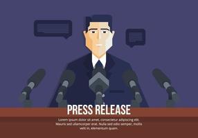 Press Release Ilustração vetor