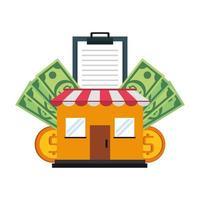 vendas de compras e composição de marketing