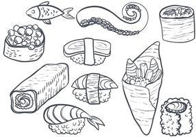 Sushi grátis 2 vetores