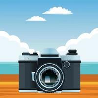 composição de férias de verão, praia e tropical