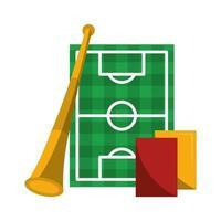 desenho animado jogo de esporte de futebol