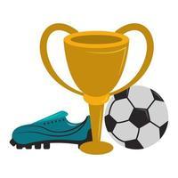 desenho animado jogo de esporte de futebol vetor