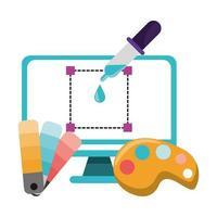 vetores e ferramentas digitais de design gráfico