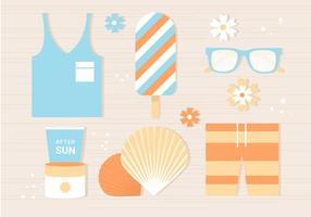Fundo de verão tropical plano gratuito vetor