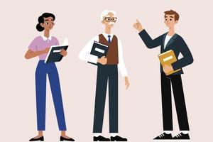 conjunto de personagens de desenhos animados do dia dos estudantes internacionais