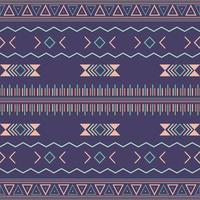 Padrão sem emenda tribal asteca com elementos geométricos