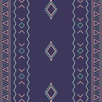 Padrão sem emenda tribal étnico asteca com formas geométricas