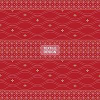 padrão de borda sari bandhani têxtil tradicional sem costura vetor
