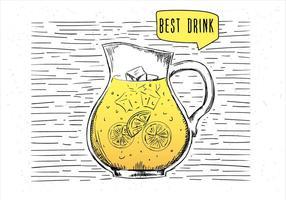 Ilustração da limonada do vetor desenhada à mão livre