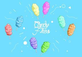 Vetor livre de floss do doce do arco-íris