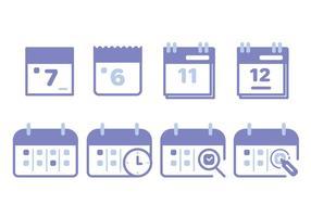Conjunto de ícones do calendário vetor
