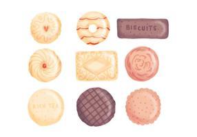 Biscoitos desenhados à mão no vetor