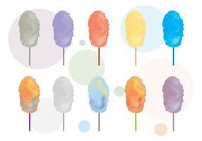 Variante de vetor de floss de doces