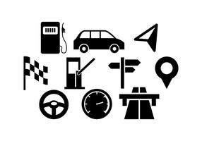 Vector de ícone de tráfego livre