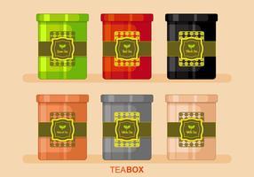 Vector da caixa de chá