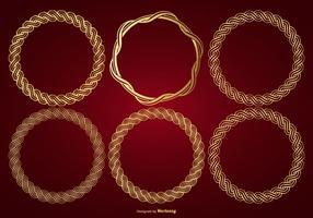 Coleção de quadro de vetores de ouro