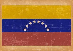 Bandeira de Venzuela do Grunge vetor