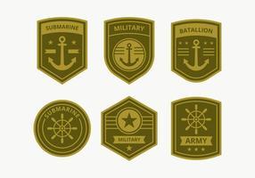 Coleção de emblema do Corpo de Marines vetor