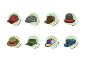 Coleção de vetores de chapéus
