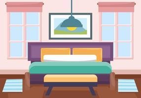 Vector de sala de interiores decorativos