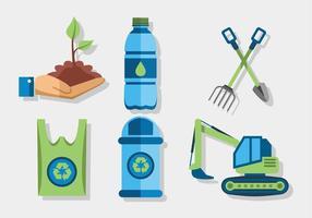 Conjunto de vetores biodegradáveis