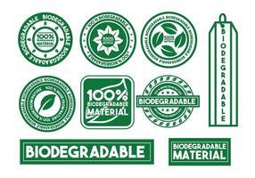 Conjunto de selo vetorial biodegradável vetor