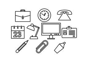 Vetor de ícone de linha de escritório grátis