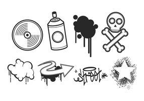 Pacote de vetores gratuitos Graffiti