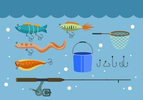 Ícones de vetor de pesca grátis