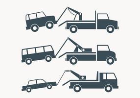 Caminhão de reboque Ilustração Simples vetor