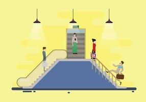 Vetor de escada rolante de metrô