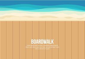 Ilustração do passeio à beira mar vetor