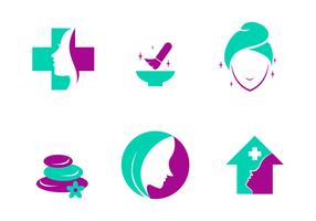 Vector do logotipo da clínica de beleza