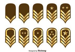 Vetores de emblema de classificação de corpos de fuzileiros navais